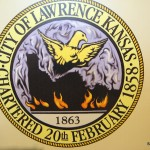 Lawrence's city seal is of a phoenix rising from the ashes.