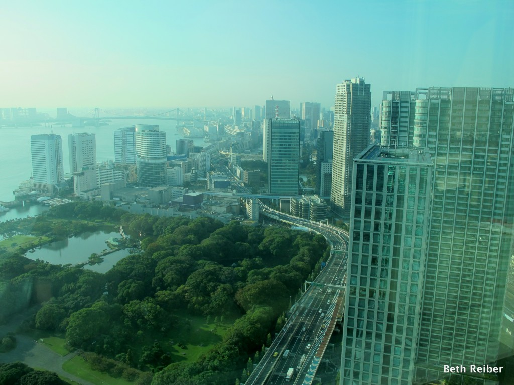 The Conrad Tokyo provides mesmerizing views of Tokyo Bay and Hama Rikyu Garden from many of its rooms