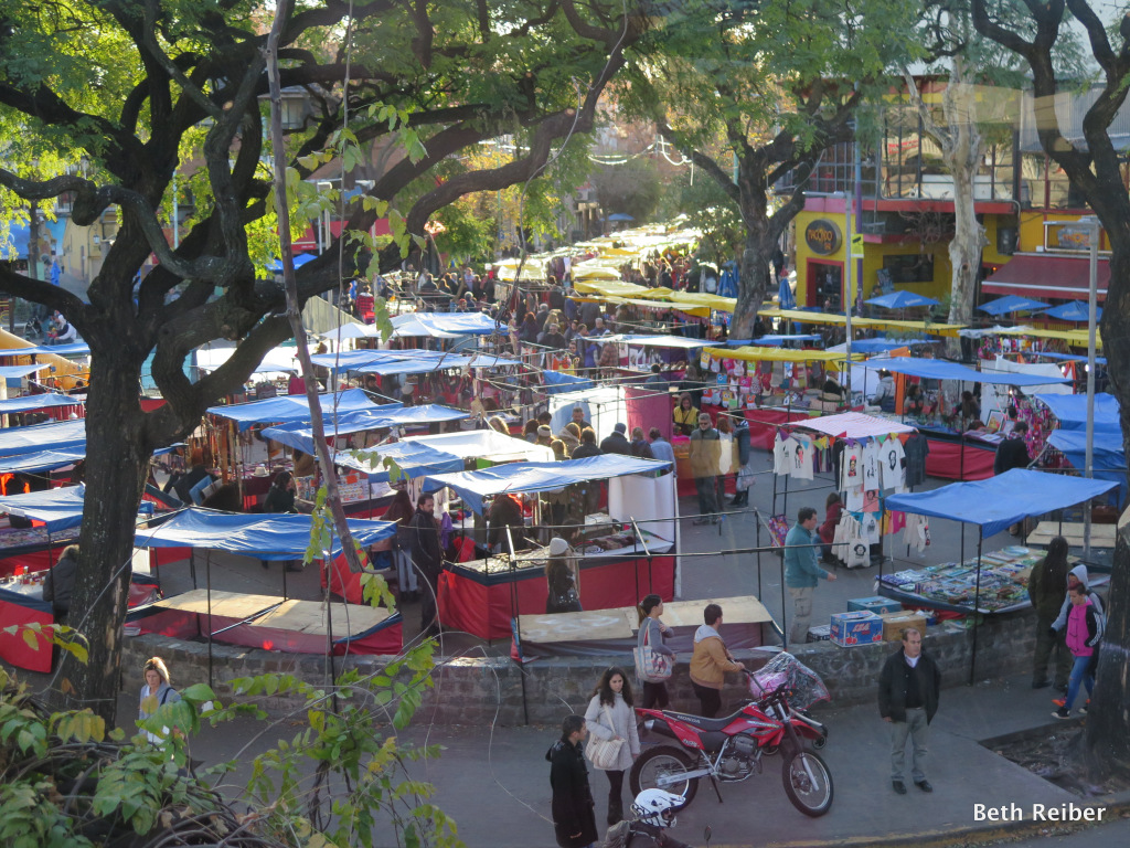 Weekend market at Plaza