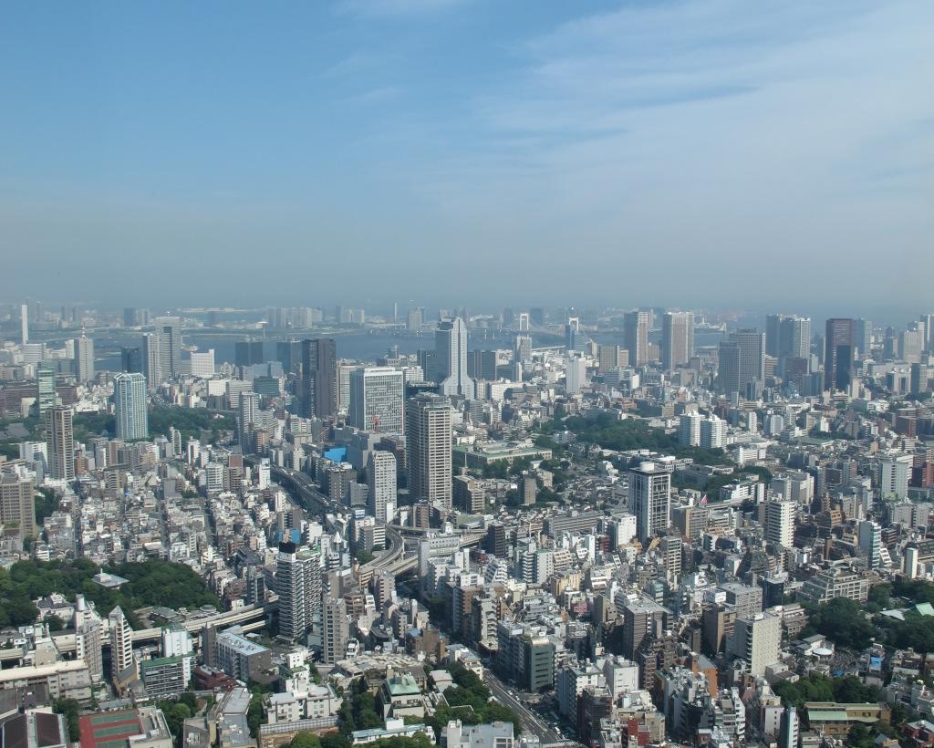 View of Tokyo toward Tokyo Bay