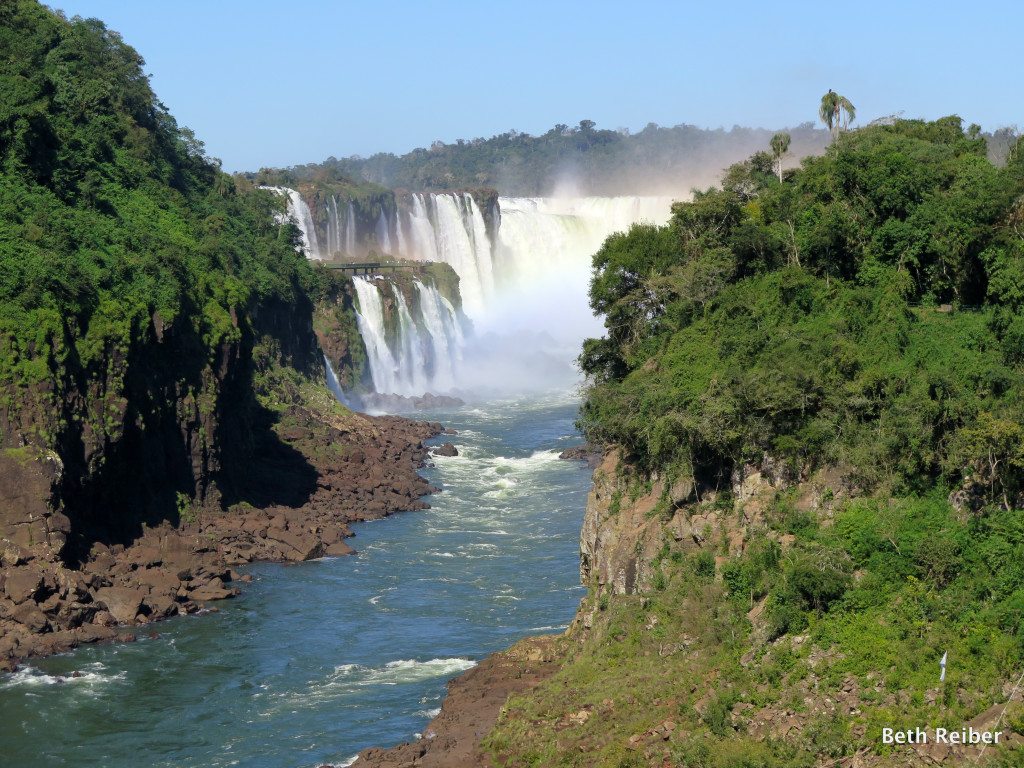 Iguazu Falls border Argentina and Brazil