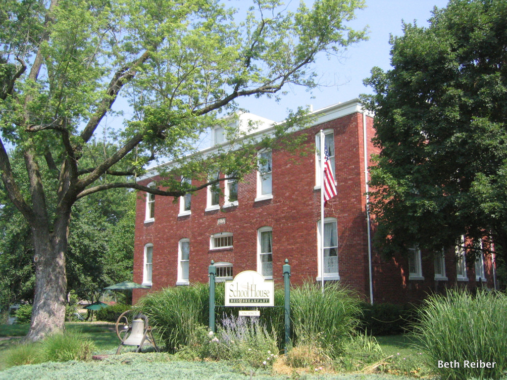 The former elementary school is now a bed-and-breakfast