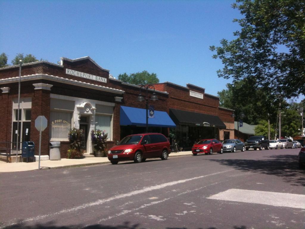 Rocheport's one-block downtown
