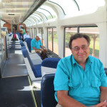 Allan Labrozzi enjoying the observation car
