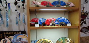 Fans for sale at Oriental Bazaar in Tokyo