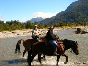 Horseback riding in Peulla