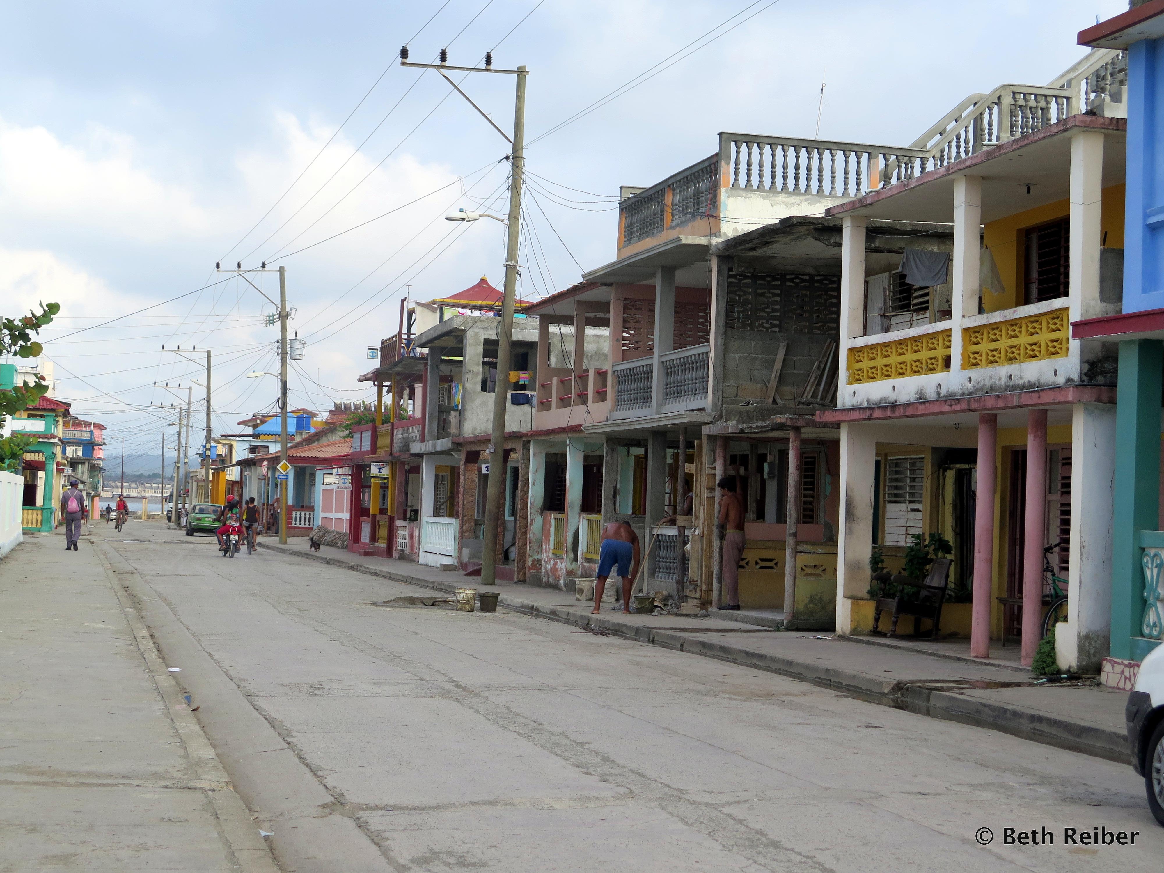 A main street in Baracoa